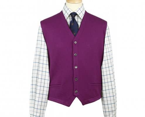 Cordings Purple Knit Vest