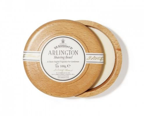 D.R. Harris Arlington Shaving Soap in Beech Bowl - Made in England
