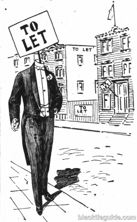 Dress suit rental ad for San Francisco haberdasher Raphels Inc., 1899.