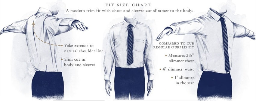 Men 39 s dress shirt style guide how to select fit collar for How to find a dress shirt that fits