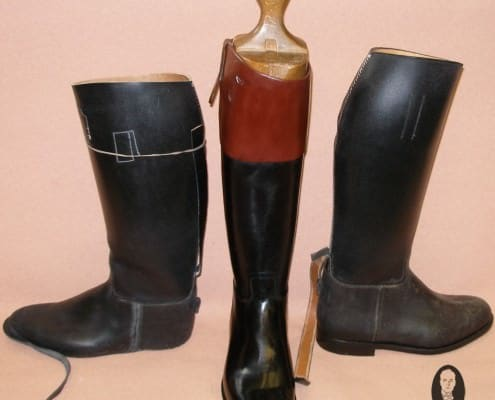 Hunting boots - the middle one is finished