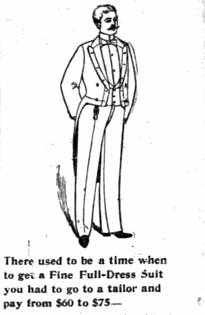 Rental ad excerpt from The Hub ad, December 1894.