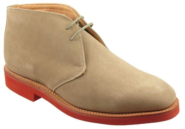 Sanders Chukka Boots with red rubber sole