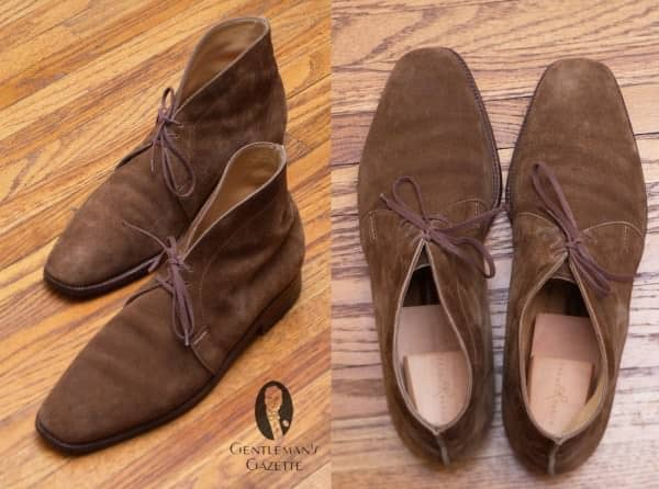 St. Crispin's Chukka Boots with leather sole & lining