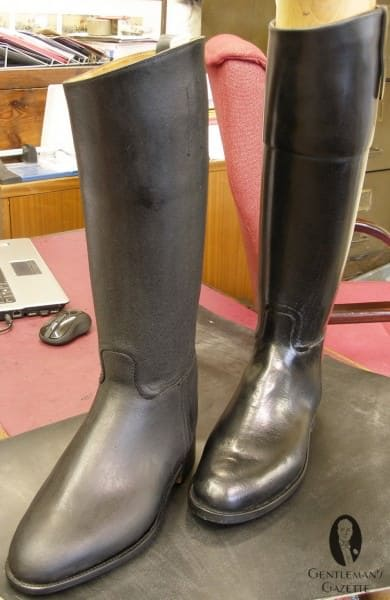 Wax calf boots - before and after boning
