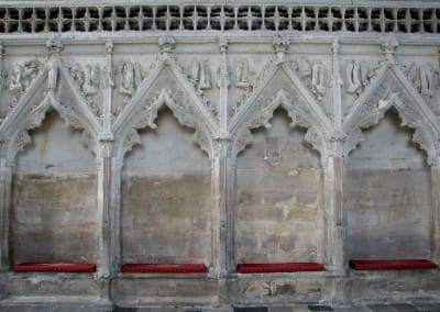 Blind arcading of Ely's Lady Chapel, Ely, England