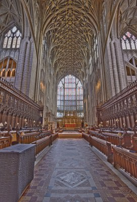 Choir of Gloucester Cathedral, Gloucester, England