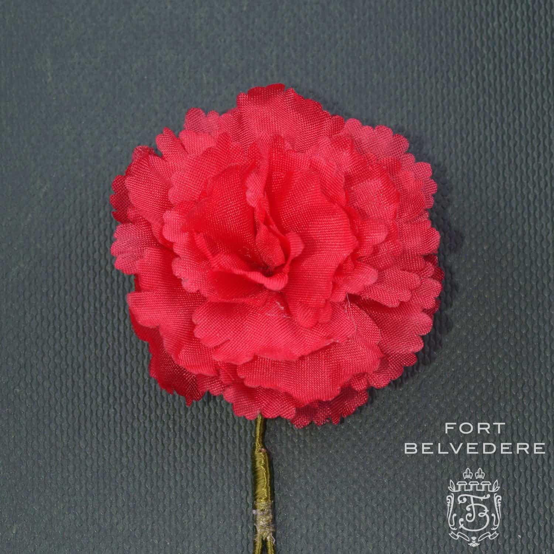 Red Carnation Boutonniere Buttonhole Handmade Silk Fort Belvedere