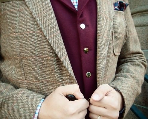 Different texture of sport coat & vest