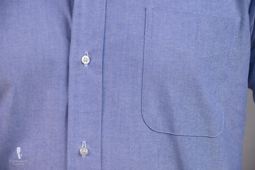 Dress Shirt Front with pocket - ideally you want to skip the pocket
