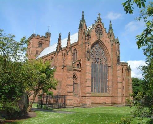 East end of Carlisle Cathedral, Carlisle, England