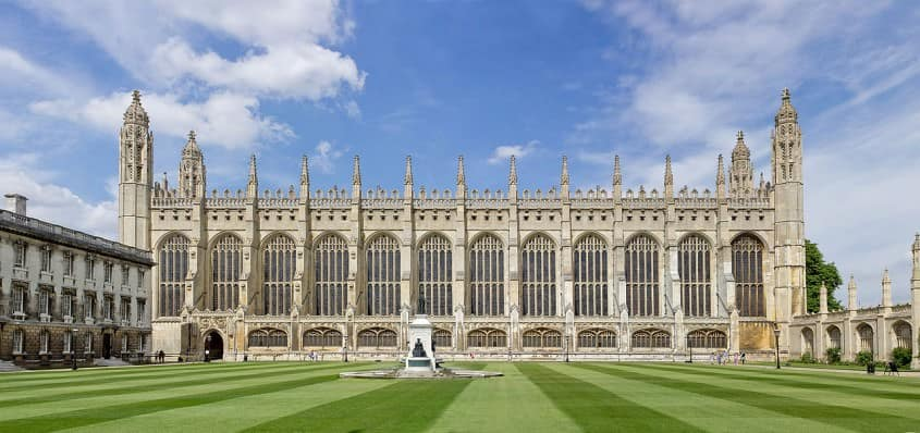 Exterior of King's College Chapel, Cambridge, England