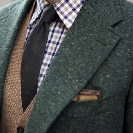 Green Tweed with brown vest by TSBMen