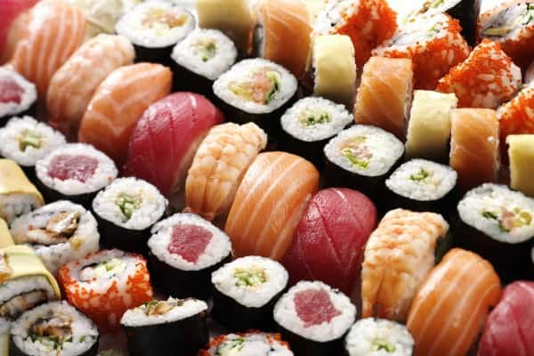 Homemade Sushit is a great idea for Dinner Parties