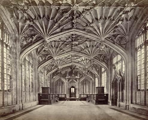 Interior of Divinity School, Oxford, England