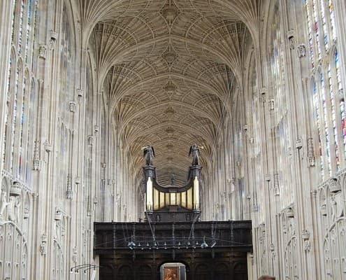 Interior with van vault of King's College Chapel