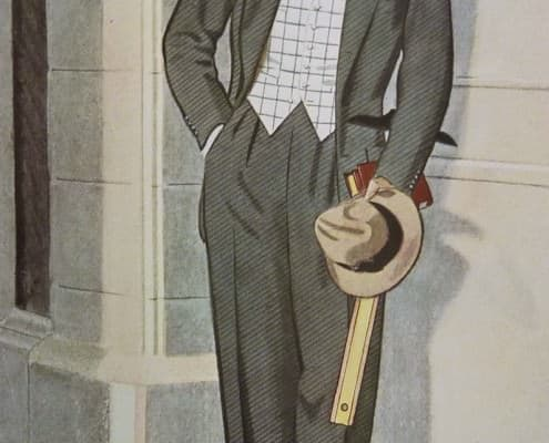 Light Windowpane Waistcoat with darker, solid gray suit