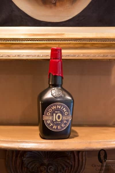 Maggie Thatcher's daughter came to visit the Samuels' one day and sent back a very special 10 Downing Street bottle