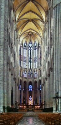 Nave of Cathedral of Saint Peter of Beauvais, Beauvais, France