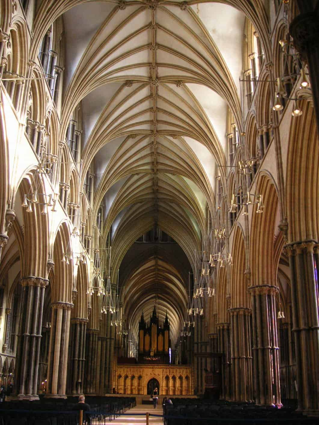Nave Of Lincoln Cathedral England