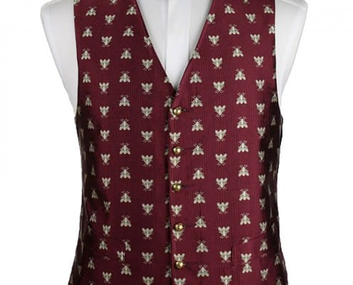 Silk Vest with Jacquard bees
