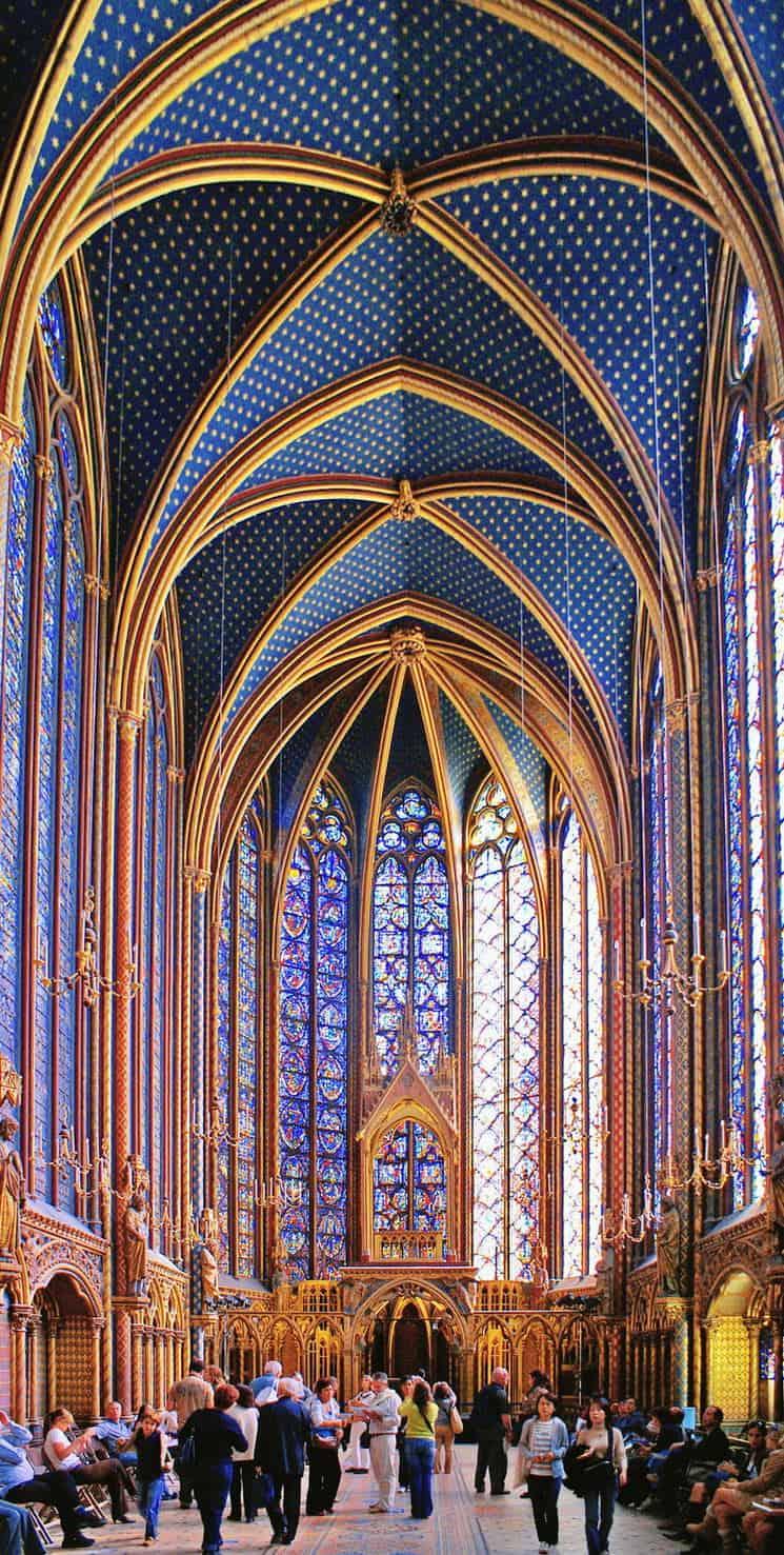 Upper Chapel Of Sainte Chapelle Paris France