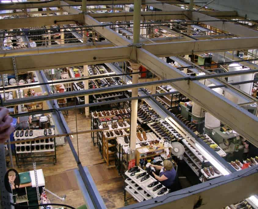 A view of the shoe room