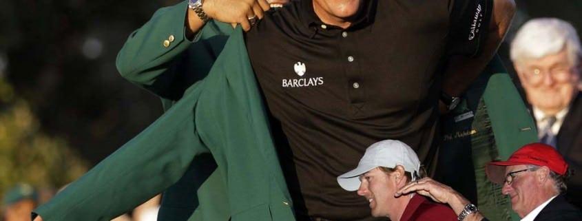 Augusta Masters Winner in green blazer & Congressional Cup Regatta red blazer for the winner