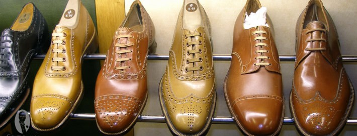 Beautifully stitched Crockett & Jones shoes from the 1930s