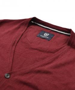 Burgundy Cardigan in fine knit by Gagliari