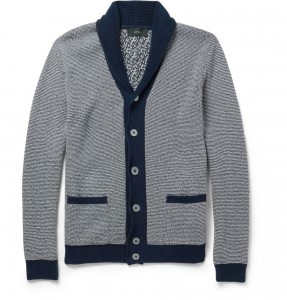 Cardigan with contrast trim by Slowear
