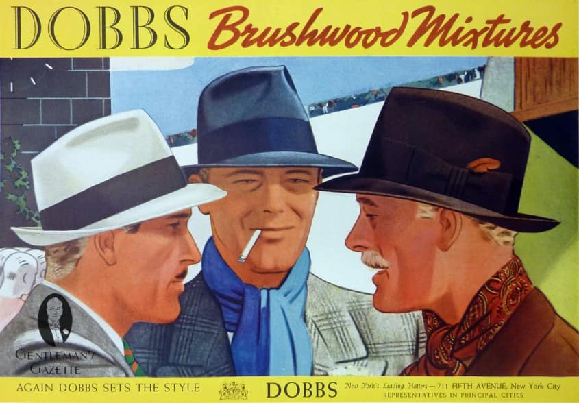 DOBBS Hats Brushwood Mixtures Ad
