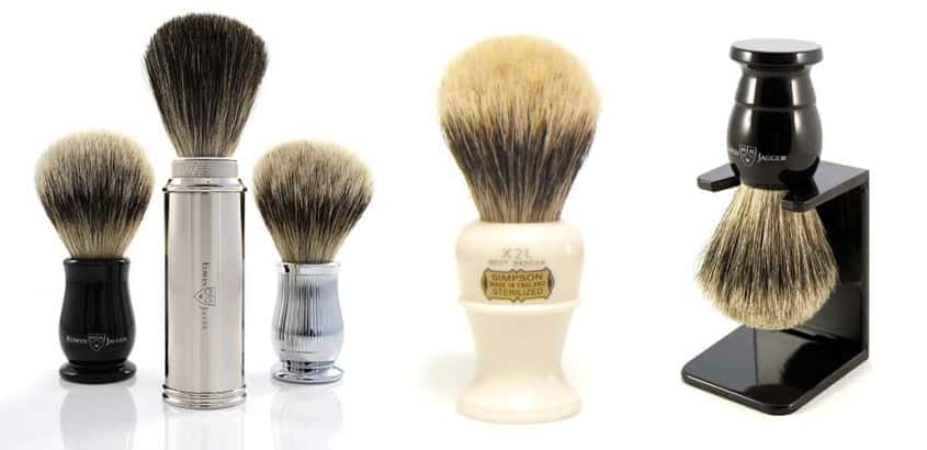 Handmade English Shaving Brushes from Simpsons & Edwin Jagger