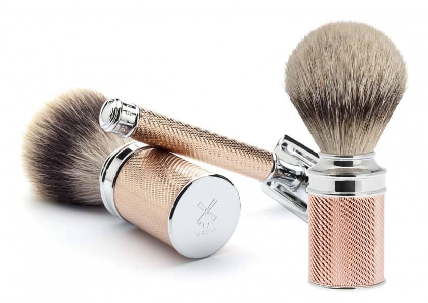 MÜHLE ROTGOLD Brush & DE Razor