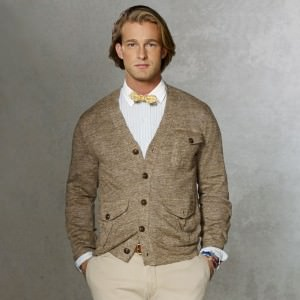 Mottled Melange Cardigan by Ralph Lauren