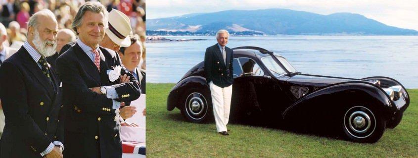 Prince Michael of Kent in 6x2 navy blazer & Ralph Lauren in 6x1 navy blazer