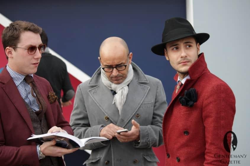 Red & Gray in modern menswear