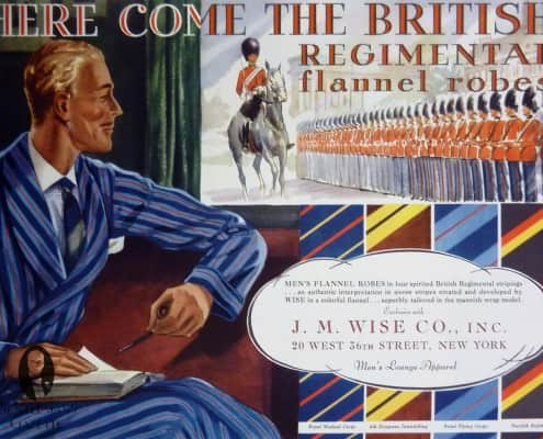 Regimental Flannel Robes by J. M Wise Co. Inc