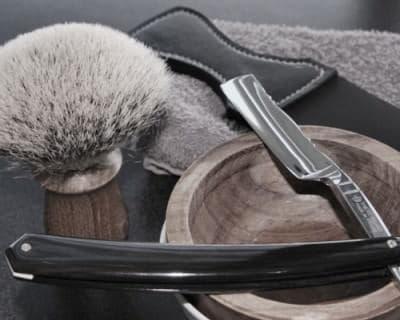 Sam & Son 28mm diameter silver tip brush in teak wood