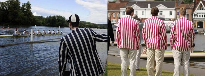 Striped blazers from the back at Henley Royal Regatta