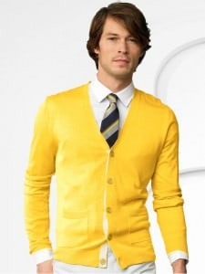 Summer cardigan in bright yellow