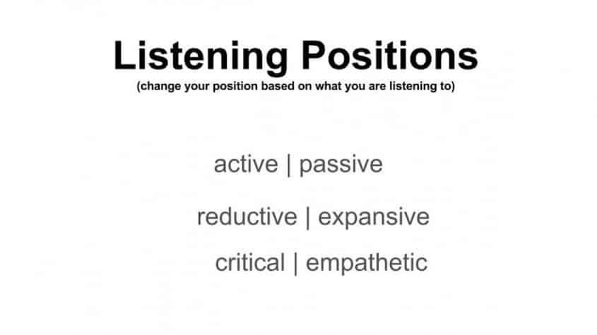Listening positions