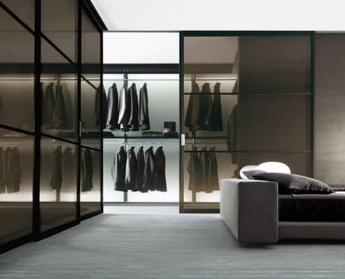 Bold walk in closet with lots of space
