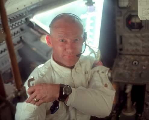 Buzz Aldrin wearing Omega