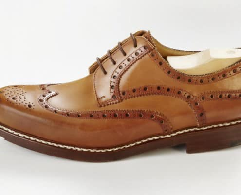 Classic Budapester zwiegenäht in cognac brown by Maftei