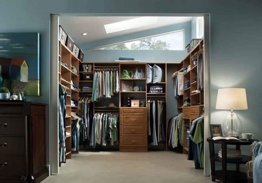 Closet with lots of natural daylight