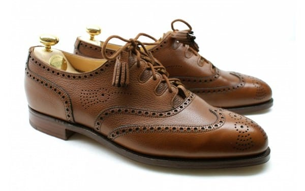 Ghillie Brogue in brown by Crockett & Jones