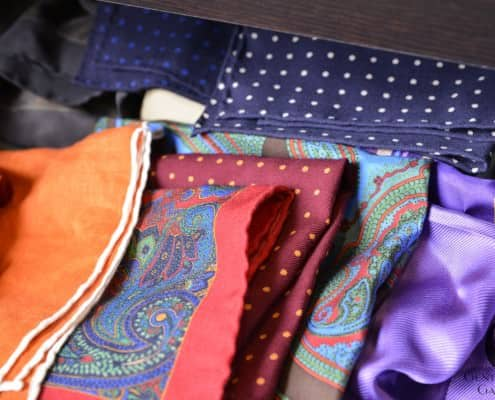 Pocket Squares in a drawer