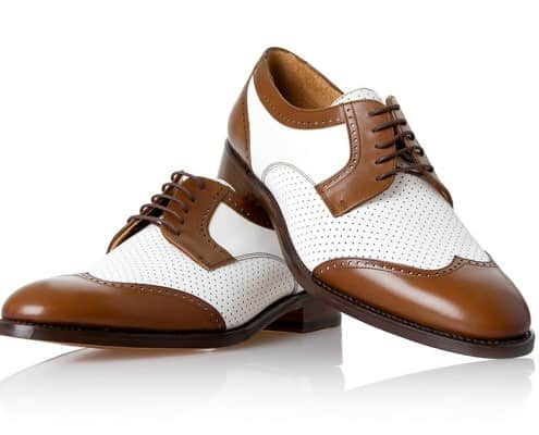 Shoepassion no 381 two tone derby brogue with perforated whole - ideal for summer
