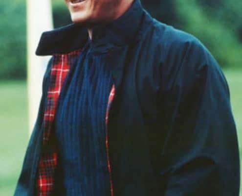 Steve McQueen in navy Harrington Jacket